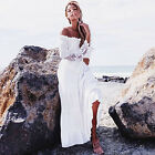 Vintage Women Bohemia Off-Shoulder Loose Sleeve Boho Beach Party Long Maxi Dress