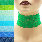 "Stretch Lace Choker extra wide 2 - 2.25 inches custom necklace elastic 2"" Blue +"