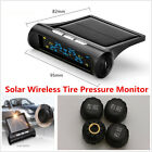 Car Solar Wireless TPMS Tire Pressure LCD Monitoring System + 4 External Sensors
