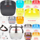 3 Snap Bubble Replacement Shield All Colors Helmet Motorcycle & Flip Up Base