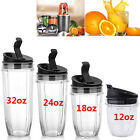 12/18/24/32oz Juicer Cup Seal Lids For Nutri Ninja Blender Auto-iQ BL450 BL480