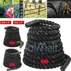 "1.5/2""100% Poly Dacron 30/40/50ft Battle Rope Exercise Workout Strength Training"