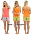 ladies pyjamas shorts cami style top summer holidays cool