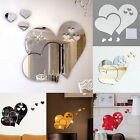 Removable 3D Mirror Love Hearts Wall Sticker DIY Home Room Art Mural Decor New