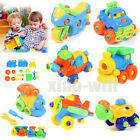 Assembly Car Aircraft Blocks Puzzle Intellectual Developmental Children ABS Toy
