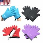 Silicone Cooking BBQ Gloves Heat Resistant Oven Mitt for Grilling BBQ Kitchen