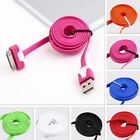 9 Colors 1M Flat USB 2.0 Sync/Data Charging Cable Cord For iphone4S 4 5S ipad2 3