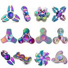 New Fingertips Colorful Toy Hand Spinner Tri Spinners EDC Stress Finger Spin Fun