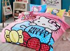 2017 New Hello Kitty Bedding Set 4pc Queen King Size PINK RARE