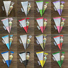 30Pcs Party Cone Cello Cellophane Sweet Wedding Favour Gift Bags + Free Ties