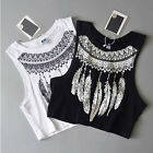 Summer Womens Ladies Vest Top Sleeveless Blouse Casual Tank Tops T-Shirt TY