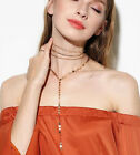 Women Fashion Short Alloy Chain Bib Necklace Set Gold/Silver Sequins Choker New