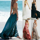 Women Chic Summer Sexy Bandage Solid Sexy Top Long Party Backless Maxi Dress JR