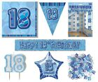 18th Birthday/Age 18 - BLUE PARTY ITEMS Decorations Tableware - Large Range