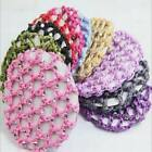 Chic Women Rhinestone Crochet Snood Hair Décor Ballet Dance Net Bun Cover