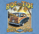 GM / Chevrolet Vintage Station Wagon Ride The Tide LIGHT BLUE Adult T-shirt