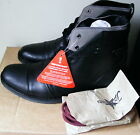 JOE BROWNS LEATHER WORKER  BOOTS  BLACK ON TREND SPARE LACES Sz 8   BNIPB