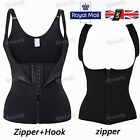 Womens Waist Trainer Strap Corset Zip Up 3 Hooks Body Shaper Athletic Sport Vest