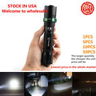 2000Lumens XML-T6Vander Flashlight  Zoomable Focus LED Torch Light with hammer ^