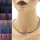 3 mm Purple Leather Cord Necklace or Choker Custom Length pk colors Handmade USA