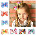 6 Inch Large Baby Girls Kids  Hair Bows Grosgrain Ribbon Bowknot Alligator Clips