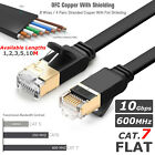 RJ45 CAT7 Ethernet Network SSTP 10 Gbps Patch Lead Flat Cable Cat7 1m to 20m UK