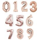 "NUMBER Foil Balloons (34"") ROSE GOLD Helium Quality {Unique}"