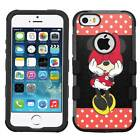 Minnie Mouse #CY Hybrid Armor Case for iPhone SE/6/S/7/Plus/Galaxy S7/S8/Plus