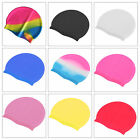 Unisex Silicone Swimming Pool Cap Adult Male Female Swim Hat Waterproof Shower