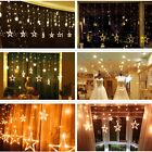 12 Star 138 Led Curtain String Fairy Lights for Christmas Wedding Birthday Party