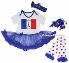 Bastille Day Tower Bodysuit Bling Star Baby Dress Girl Leg Warmer Shoes NB-18M