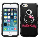 Hello Kitty #BW Hybrid Armor Case for iPhone SE/6/s/7/Plus/Galaxy S6/S7/S8/Plus
