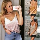 Women Sexy V-Neck Sleeveless Backless Spaghetti Strap Solid Casual Cami B20E