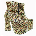 Plus Punk Gothic Women's High Heel Platform Creeper Chunky Ankle Boots Shoes A89