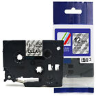 Compatible Brother TZ-131 P-Touch Black On Clear Label Tape 12mm x 8m TZe-131