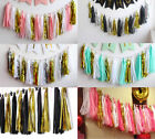 15-20Pcs Colour Theme Paper Tissue Tassels Garland Bunting Wedding Party Decor