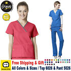 Внешний вид - WonderWink Origin [XS-3XL] Women's Y-Neck Top & Flare Pant Medical Scrub Set