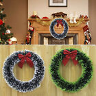 Christmas Decoration Door Window Wreath Pine Garland Wreath With Red Bow