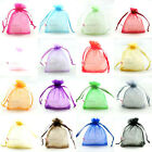 25 100 Organza 6 Sizes Gift Bags Wedding Favours Party Decor Candy Sheer Pouches