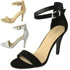 CityClassified Womens Strappy Open Toe High Heel Shoes Ankle Strap Dress Sandals