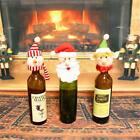 Christmas Santa Wine Bottle Cover Hat Cap Holiday Decorations Gift Bag Wrap -S