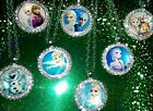 Exquisite Frozen Elsa, Anna, Olaf Character Pendant Necklaces with Rhinestones