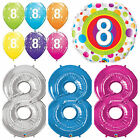 Age 8 - Happy 8th Birthday Qualatex Balloons {Helium Party Balloons Boy/Girl}
