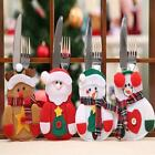 Christmas Xmas Decor Snowman Kitchen Tableware Holder Pocket Dinner Cutlery BagS