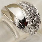 Size 5.5 6.5 8.5 Nice Leaf White CZ Gems Jewelry Gold Filled Woman Ring K2035