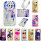 Luxury Glitter Star Liquid Soft TPU Back Case Cover Skin For Samsung Phones