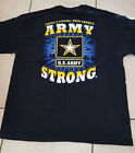 US Army Strong  BLACK Adult T-shirt