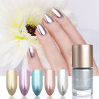 9ml Metallic Nail Polish Mirror Effect Shiny Metal Polish Varnish Silver Blue