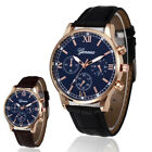 Fashion Men Watch Faux Leather Strap Business Formal Wrist Watches Fast Shipping