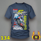 Bennetts Suzuki Road Racing Michael Dunlop Motorcycle printed T-Shirt 134